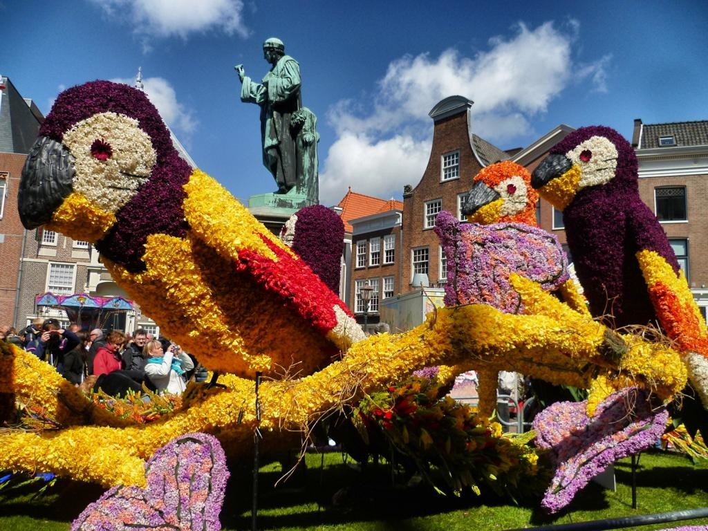 Tulpenblüte in Holland: Bloemencorso
