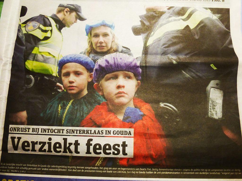 Artikel in der Metro über die Proteste beim Einzug von Sinterklaas 2014
