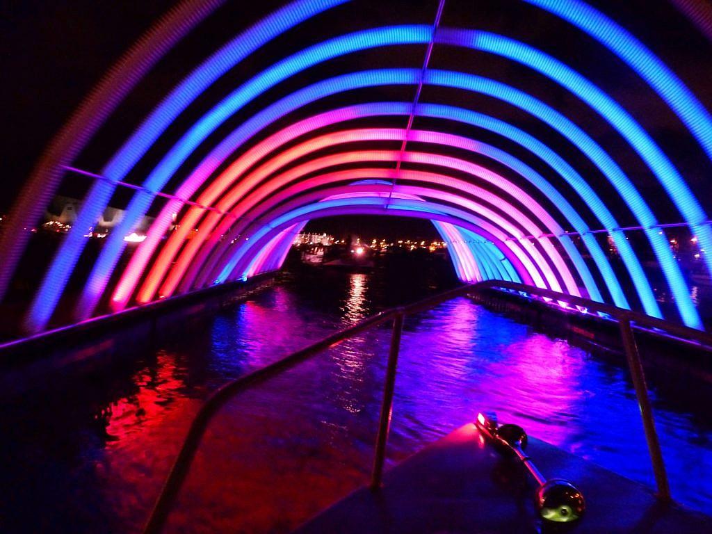 Amsterdam Light Festival zu Boot
