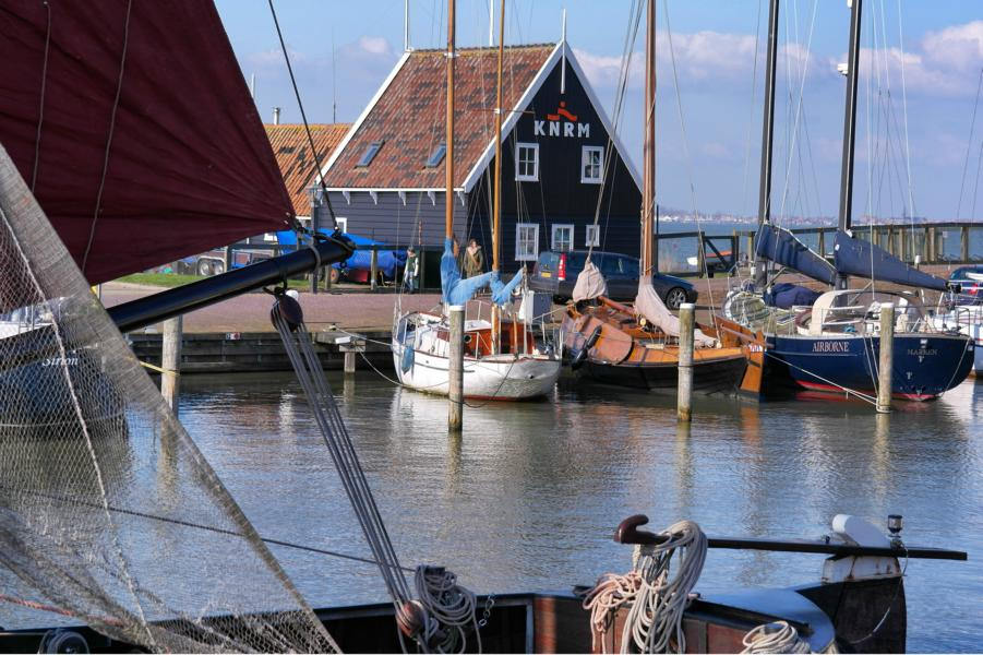 Insel Marken in Holland - Hafen
