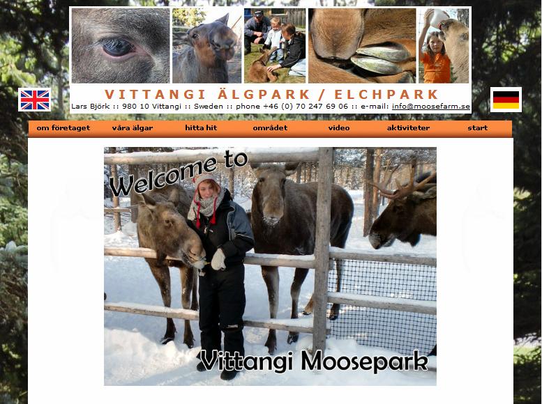 Plötzlich berühmt: Elchpark in Lappland