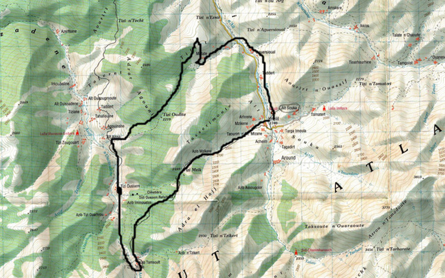 Route Trekking in Marokko