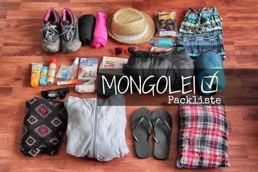 Die ultimative Packliste für die Mongolei