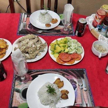 Abendessen im Casa Particular in Trinidad