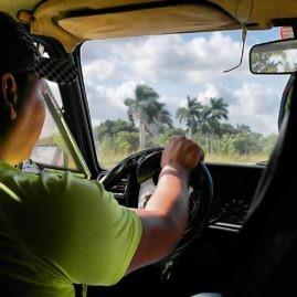 Unser Taxi Collectivo von Havanna nach Vinales