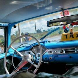 Oft sind die Taxi Collectivos auch Oldtimer