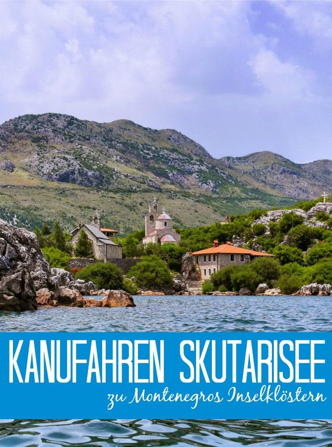 Kanufahren auf Montenegros Skutarisee