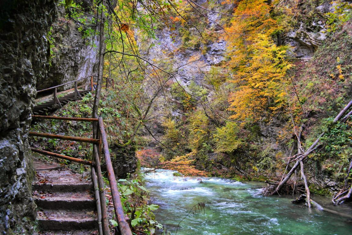 Kurzurlaub Slowenien - Vintgar Klamm