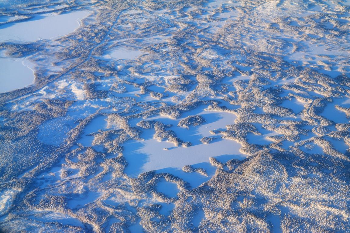 Die besten Tipps für Schwedisch Lappland individuell im Winter - Lappland von oben