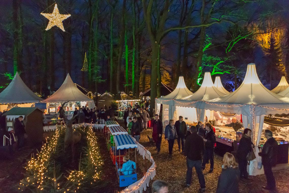 Waldweihnachtsmarkt auf dem Landgut Krumme