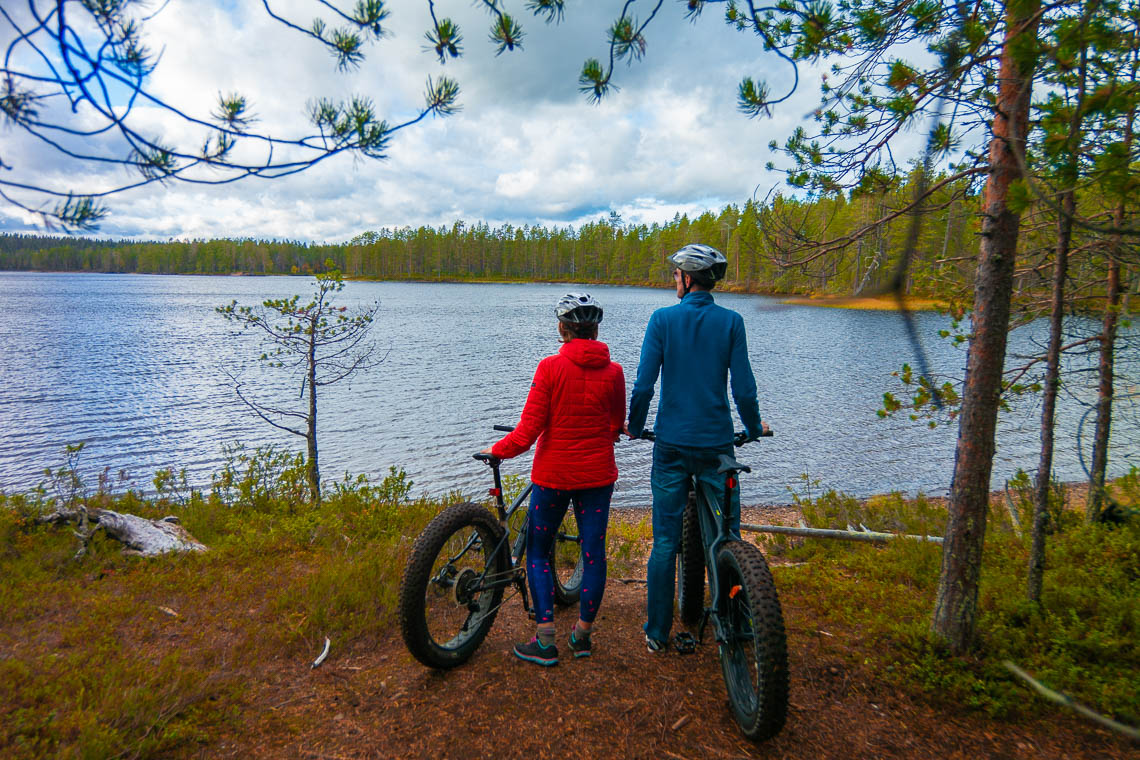 Indian Summer in Lappland - Aktivurlaub im herbstlichen Lappland - Mountainbiken im Hossa Nationalpark
