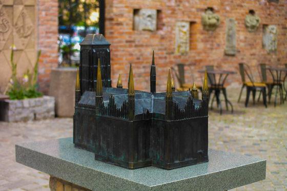 Ein Modell der Marienkirche