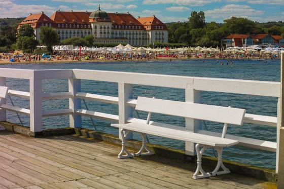 Das längste Holzpier Europas in Sopot