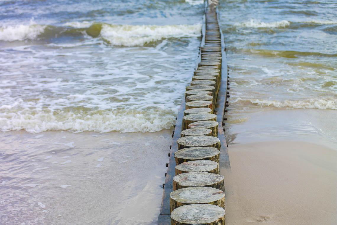Der Strand von Leba in Polen