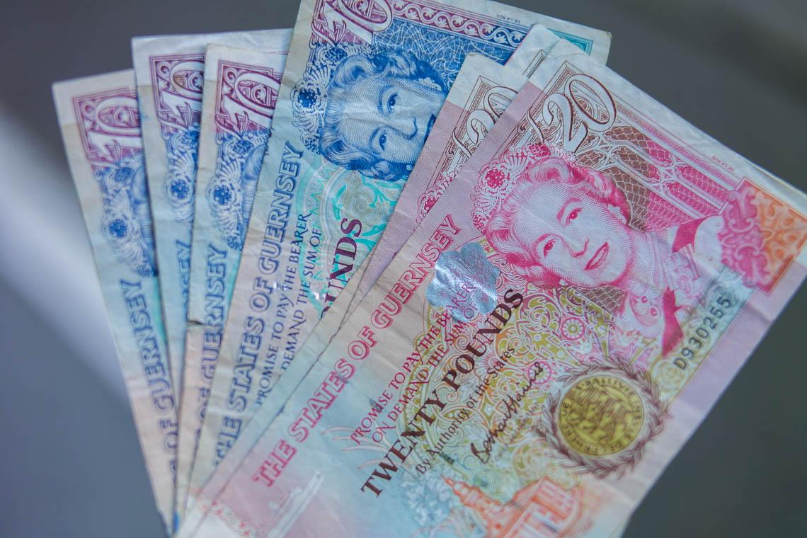 Währung auf Guernsey - das Guernsey Pound
