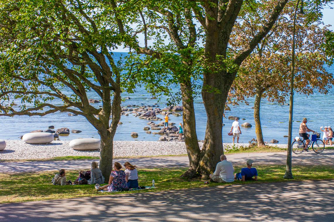 Strandpromenade in Visby