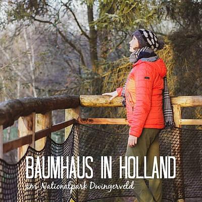 Baumhaus in Drenthe - Naturhäuschen in Holland