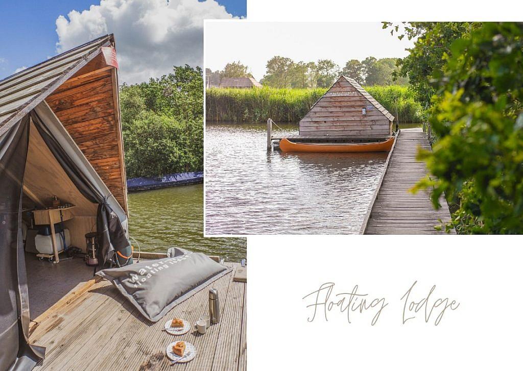 Floß bei Fort Uitermeer
