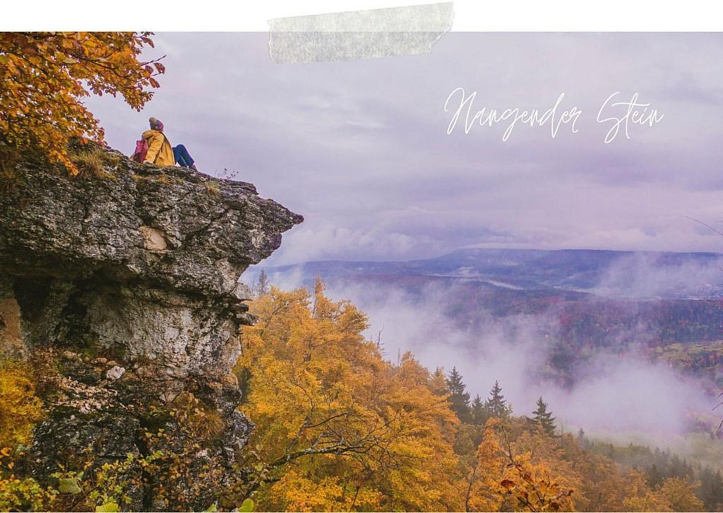 Hangender Stein - Traufgang Zollernburgpanorama Schwäbische Alb