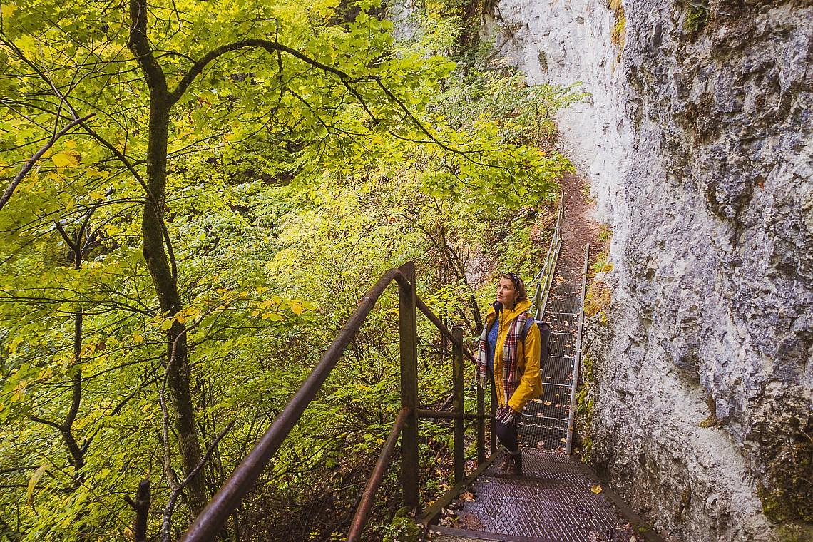 Traufgang Hossinger Leiter - Traufgänge Schwäbische Alb